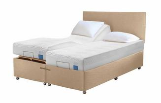 TEMPUR® Ardennes Adjustable Massage Drawer Divan (Super King)