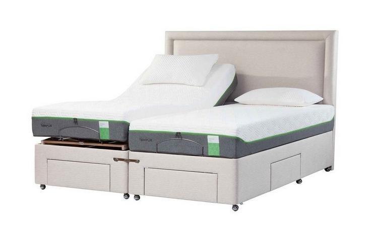 TEMPUR® Moulton Adjustable Massage Drawer Divan (Long Single)