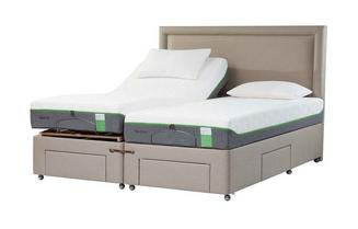 TEMPUR® Moulton Adjustable Massage Drawer Divan (Super King)